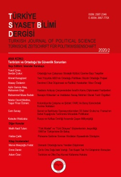 2020/2 Terörizm ve Ortadoğu'da Güvenlik Sorunları - Terrorism and Security Issues in the Middle East